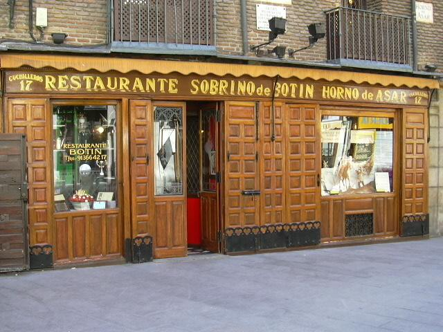 Essential travel experience 92 eat dinner at a famous for Casa botin madrid